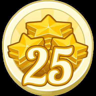 25 Treasure Points