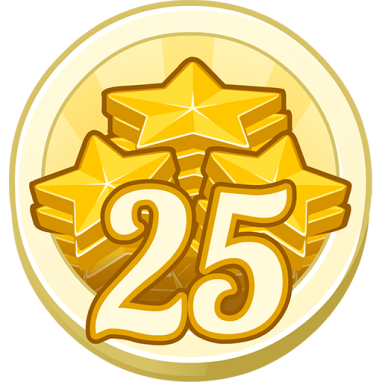 25 Treasure Points