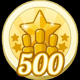 500 Treasure Points